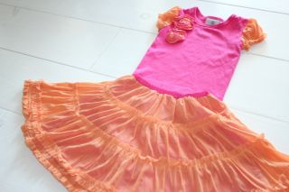 Baby Lulu 18 Candy Lane Erin Murphy Orange Pink Top Tulle Twirl Skirt Sister
