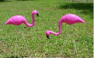 Pink Flamingo Yard Ornaments