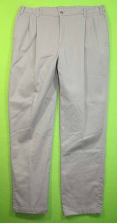 Croft Barrow Sz 38 x 34 Mens Beige Khakis Chinos Pants Slacks 1C64