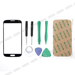 Blue Front Screen Glass Lens Replacement for Samsung Galaxy IV S4 I9500 Tool
