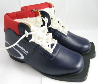 Children's Alpina Jr Blazer Youth Cross Country Ski XC Boots 75mm Sizes 28 30