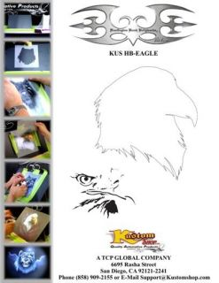 Bald Eagle Animal Airbrush Stencil Air Brush Template