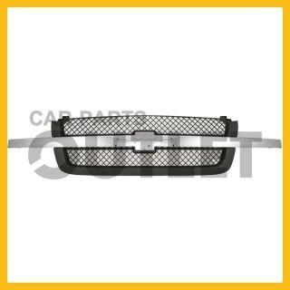 04 Chevy Silverado Chrome Molding Text Gray Grille 2003