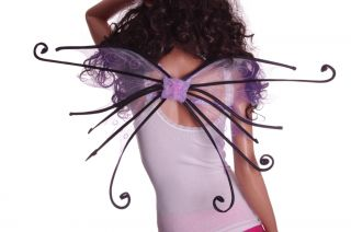 Womens Halloween Costume Spider Fairy Pixie Wings Green Orange Purple Pink New