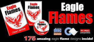 Eagle Flames Clipart Vinyl Cutter Plotter Clip Art Images Vector CD
