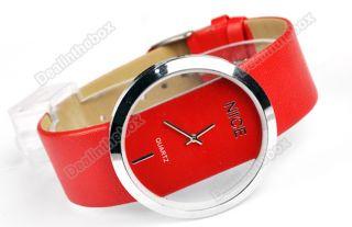 New Leather Quartz Fashion Men Wrist Watch