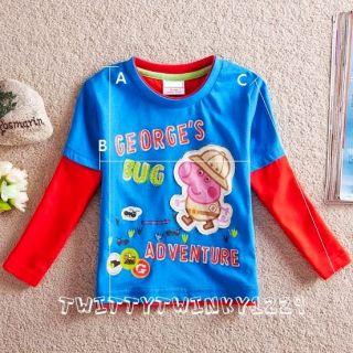 Baby Boys T Shirt Peppa Pig George Fireman Sam Lightning McQueen 18M 6Y