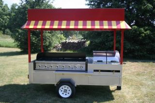 Grand Master Hot Dog Cart Vending Concession Trailer Brand New