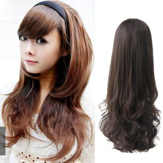 Women's Sexy Fashion Girl Stylish Curly Wavy Half Head Hair Band Hair Extension