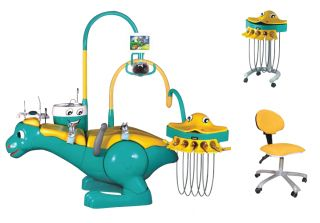 New Peado Cartoon Dinosaur Shape Dental Chair for Children Big LED x Ray Viewer