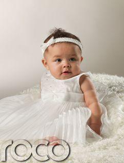 Robe Fille BEBE Demoiselle Honneur Blanc Bapteme Fete
