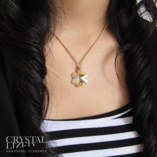Fashion Beautiful Cute New Charm Free Simple Hot Crystal Flower Necklace Pendant