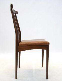 Retro Chair Mid Century Dining 6 Available Danish Tan Leather Cloth Teak