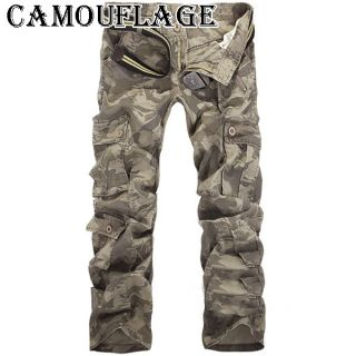 New Mens Cotton Casual Military Army Cargo Camo Combat Work Pants Trousers R49 6