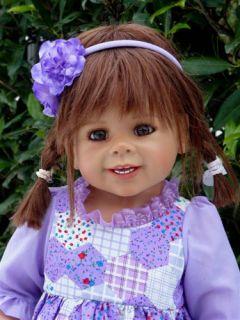 """Masterpiece Daddy's Little Girl Monika Levenig Doll 34"""" Brunette All Vinyl"""