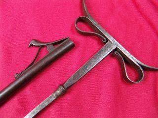 Antique Indian Fakir Crutch Dagger Stiletto Blade 18 Century
