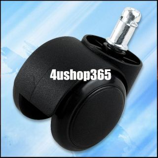 5 Pcs Office Chair Casters Swivel Rubber Wood Floor Furniture Replacement Wheels