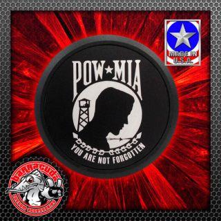 Black Wrinkle Finish pow MIA Cam Cover Badge Freedom Engine 106 100 92 Side