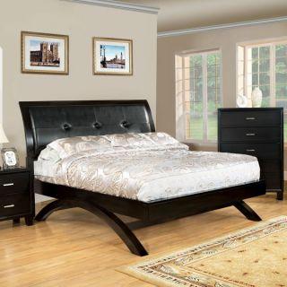 Delano Espresso Finish Contemporary Style Bed Frame Set