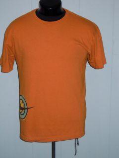 Nike Retro 6 0 Swoosh Sport Wrap Logo Surf Skate Athletic T Shirt Orange L