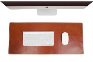 100 Italian Genuine Leather Luxury Office Desk Mouse Pad 2 Colors Available