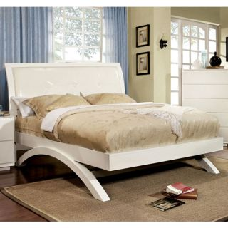 Delano White Finish Contemporary Style Bed Frame Set