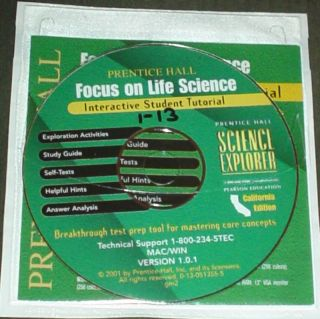 Prentice Hall Life Science 7th CD ROM Tests Answer Key