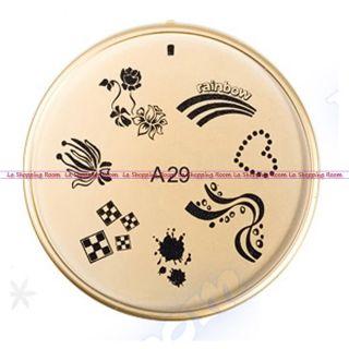 Nail Art Stamp ENAS Design Image Stamping DIY Stencil Printing Salon Stamper 1