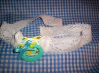 Adult Sissy Baby Strap on Time Out NUK Pacifier Blue for Fun Play 18 36 M
