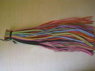 10x Colorful Long Bungee Braid Ties Hair Elastic String Rope Ponytail Holder New