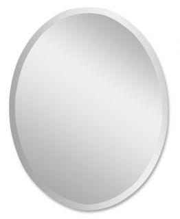 Large Oval Beveled Wall Mirror Polished Edge Bathroom Vanity