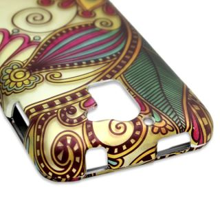 Huawei Premia 4G M931 Case Antique Flower Faceplate Hard Cover Metro Pcs