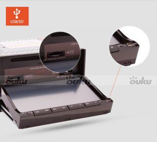"7"" Double 2 DIN Car CD DVD Player Radio iPod Navigation GPS USB SD BT H0 Camera"