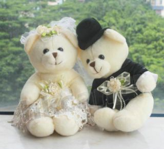 30 cm Couple of Teddy Bear Stuffed Animals Soft Toys Wedding Gifts 2 Lovey