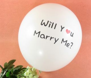 10 Pcs Proposal Wedding Birthday Party Decor Marry Me Latex Balloons 12'' Inches