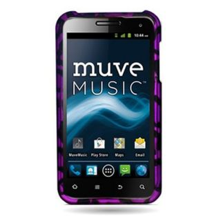 Purple Leopard Case for ZTE Engage V8000 Cell Phone Hard Skin Cover