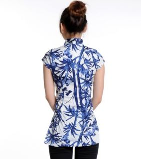 Charming Chinese Women's Tops Shirt Cheongsam White Sz s M L XL