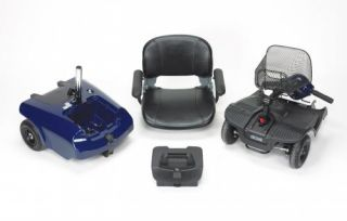 Bobcat™ Blue 4 Wheel Compact Travel Power Electric Mobility Scooter Chair