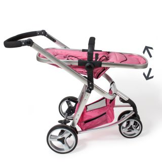 Pram Travel System 3 in 1 Combi Stroller Buggy Baby Child Jogger Push Chair Pink