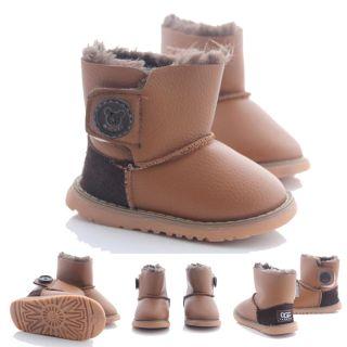 Baby Boy Girl Kids Shoes 3M 6yr Snow Boots Warm 4 Winter Fur UK2 11 EU18 30