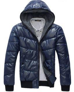 Men's Winter Down Cotton Outerwear Coat Windproof Jacket Winter Warm Coat