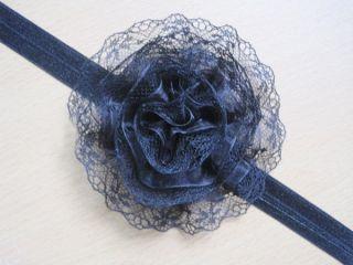 7pcs Kid Newborn Baby Girl Toddler Lace Flower Headband Hairband Bow Accessories