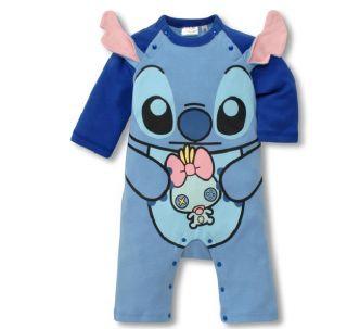 Disney Cartoon Baby Toddler Grow Long Sleeved Bodysuit Romper Onesie