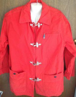 ESCADA Sport Red Nautical Theme Flag Toggle Button Clasp Jacket Coat Size S