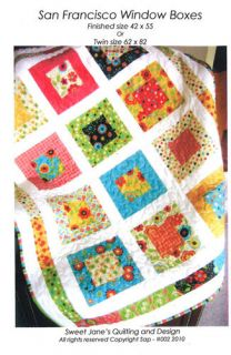 San Francisco Window Boxes Quilt Pattern Sewing Children Baby Adult