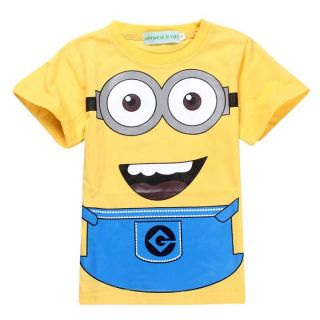 New Kids Boys Girls Minions Despicable Me Short Sleeve T Shirts 6 7 Years 130