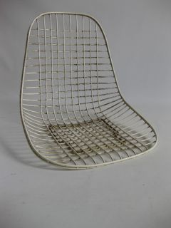 Vintage Eames Wire Mesh Chair Seat Herman Miller Zenith Rod Rocker DKR Shell