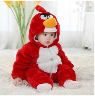 "Hot Baby Boys Girls Winter Snowsuit Fleece Hoodie Jumpsuit Outwear""Cozy Bird"""