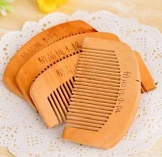1 PC Hot Mini Peach Wooden Color Toothed Comb Healthy Head Hair Head Brush Care
