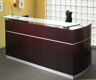 Reception Desk Office Salon Receptionist Counter w ADA Return Designer Furniture